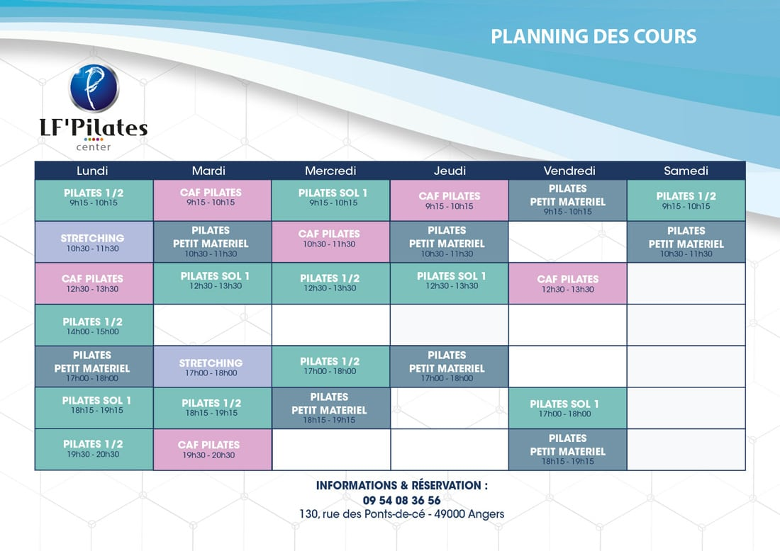 Angers 2018 - Planning LF' Center