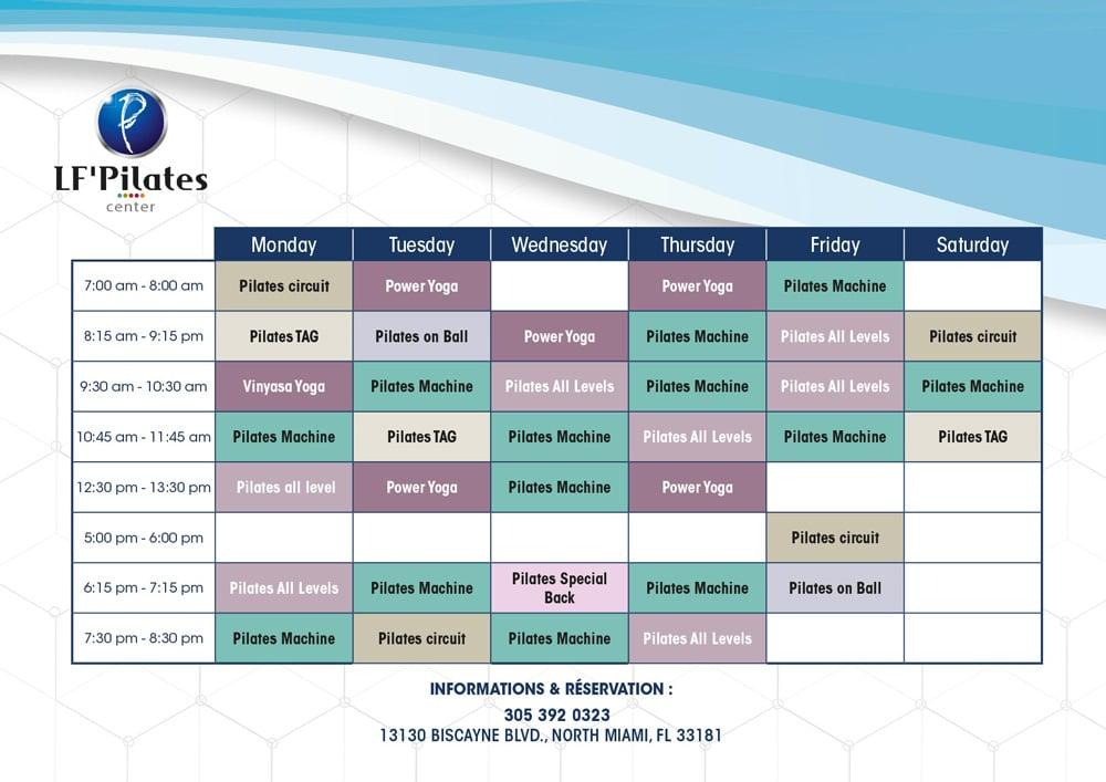 Planning - LF' Pilates Center - North Miami