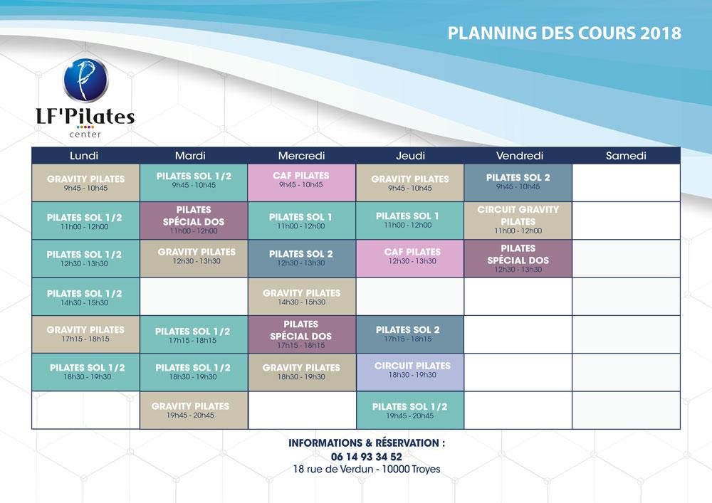 Troyes 2018 - Août 2018 - Planning LF' Center