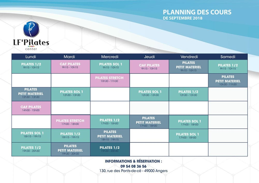 Planning LF' Pilates Center - 09/2018