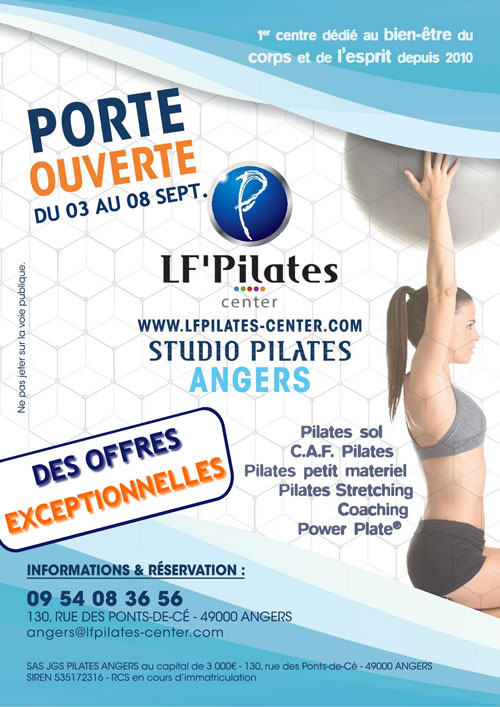 SD - Porte ouverte LF Pilates Center Angers