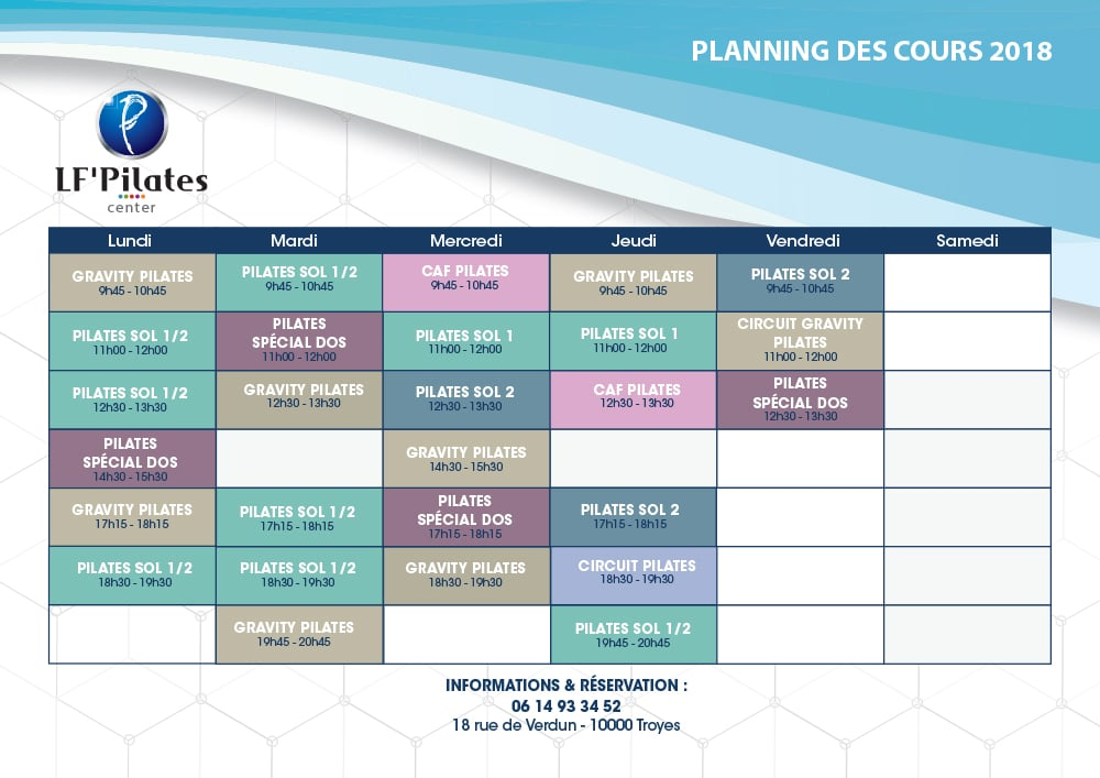 Troyes 2018 - Octobre 2018 - Planning LF' Center