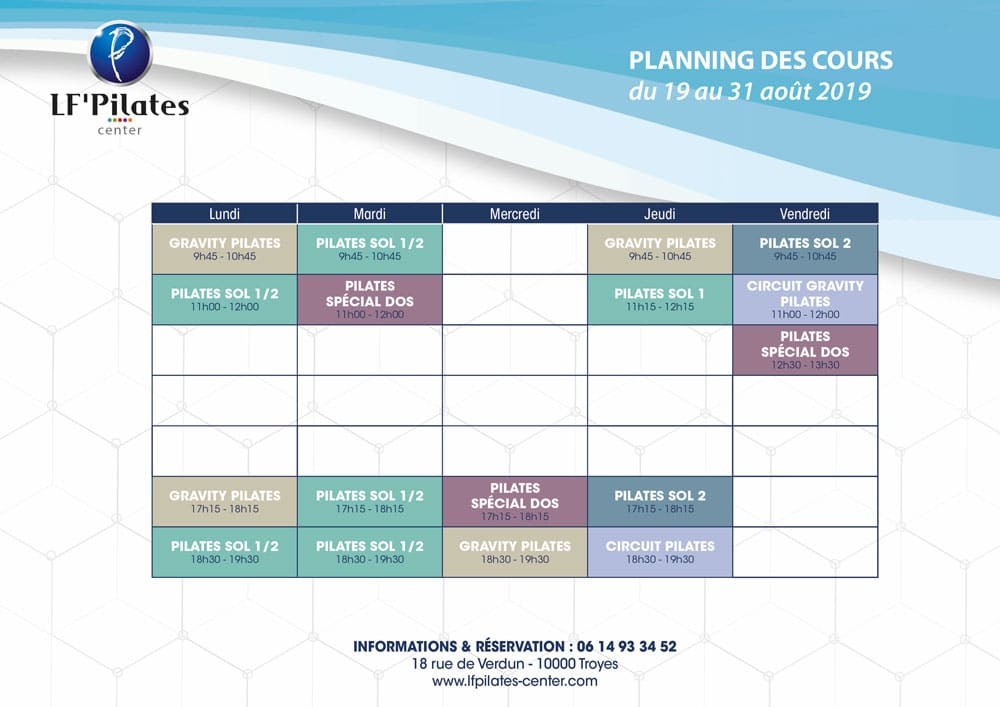 Planning lfcenter Troyes 19-31aout2019