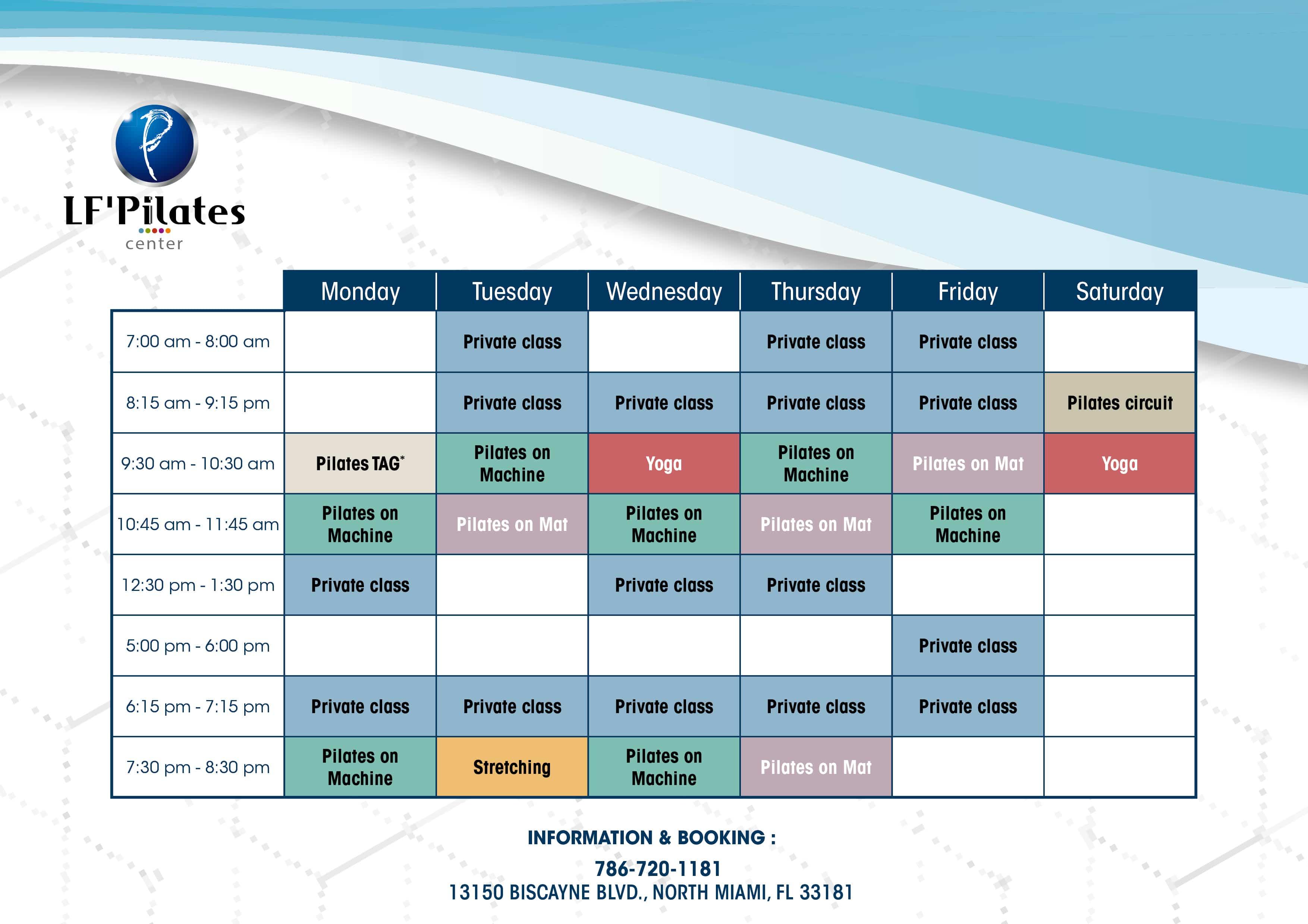 Planning Lf'Pilates Center 2020